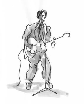 Guitariste de S K R I E T, Strand le 23.03.2012