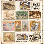 PHANTOM BUFFALO - Cement Postcard With Owl Colours