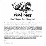 DEAD BEES RECORDS - Label Sampler #3